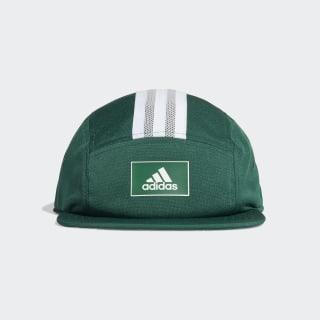Five-Panel adidas Athletics Club Kappe Collegiate Green / White / Grey Two FK0870