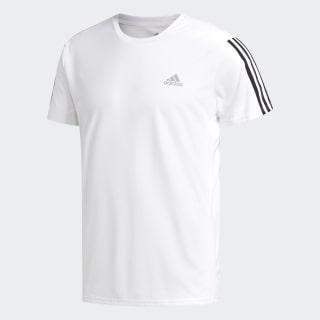 Camiseta Running 3 bandas White / Black DN9041
