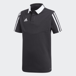 Tiro 19 Cotton Polo Shirt Black / White DU0863