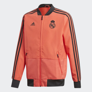 Real Madrid Ultimate Präsentationsjacke Real Coral / Black DP7660