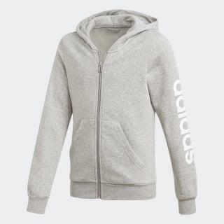 Bluza z kapturem Essentials Linear Medium Grey Heather / White DV0358