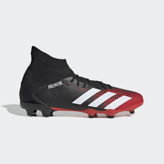 Botas de Futebol Predator 20.3 – Piso Firme Core Black / Cloud White / Active Red EE9555