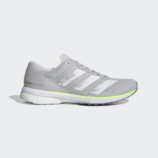 Кроссовки для бега Adizero Adios 5 Grey One / Silver Metallic / Light Flash Red EH3129