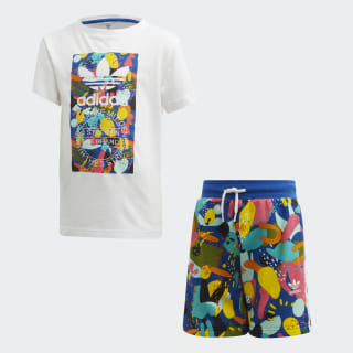 Shorts Set White / Multicolor ED7774