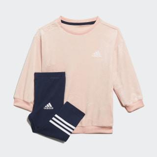 Velour sæt Glow Pink / White ED1163