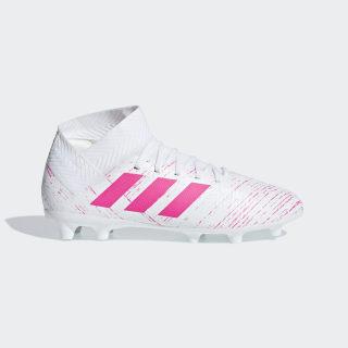 Zapatos de Fútbol Nemeziz 18.3 Terreno Firme Ftwr White / Shock Pink / Shock Pink CM8506