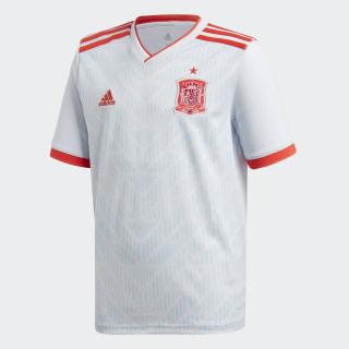 Jersey Oficial Selección de España Visitante Niño 2018 HALO BLUE S16/BRIGHT RED BR2694