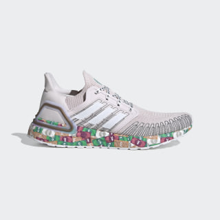 Ultraboost 20 Shoes Orchid Tint / Cloud White / Glory Green FX8890