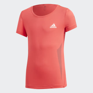Camiseta YG TR FAV TEE Shock Red / White DV2793