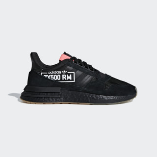 Кроссовки ZX 500 RM core black / core black / flash red BB7443