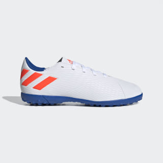 Chuteira Nemeziz Messi 19.4 Society ftwr white/solar red/football blue F99929