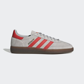 Zapatilla Handball Spezial Grey Two / Hi-Res Red / Gold Metallic EF5747