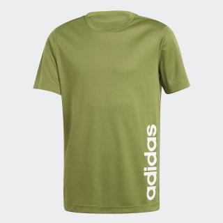 Camiseta Linear Tech Olive / White EI7968