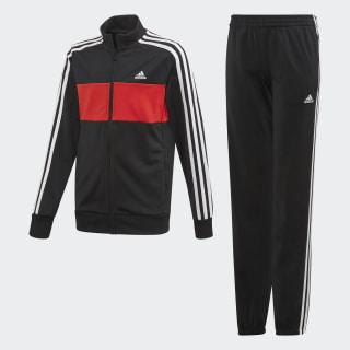 Tiberio Trainingsanzug Black / Vivid Red / White FM5720