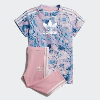 Комплект: футболка и леггинсы Marble multicolor / white DV2325