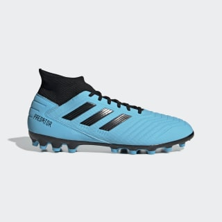 Predator 19.3 Artificial Grass Boots Bright Cyan / Core Black / Solar Yellow F99990