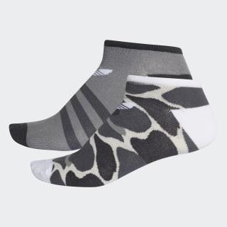 Trefoil Liner Socks 2 Pairs Multicolor / White DH1020