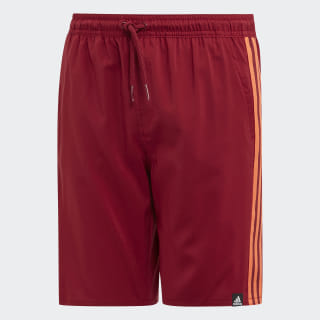 3-Stripes Swim Shorts Collegiate Burgundy DY6424