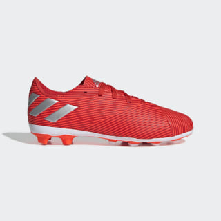 Calzado de Fútbol Nemeziz 19.4 Multiterreno Active Red / Silver Metallic / Solar Red F99948
