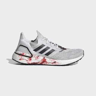 Кроссовки Ultraboost 20 crystal white / core black / solar red FW4314