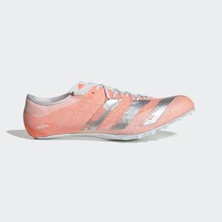Adizero Prime Sprint Spike-Schuh Signal Coral / Silver Metallic / Cloud White EE4586