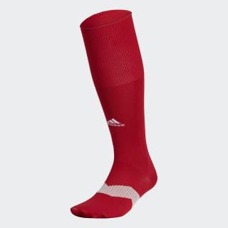 Metro Soccer Socks 1 Pair Power Red / White / Clear Grey S48954