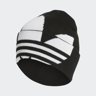 Bonnet Adicolor Large Trefoil Cuff Knit Black / White / Gold Metallic FT8919