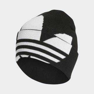 Gorro Adicolor Large Trefoil Cuff Knit Black / White / Gold Metallic FT8919