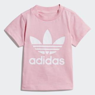 Remera TREFOIL TEE Light Pink / White DV2831