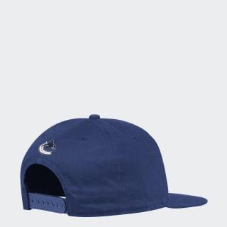 Vancouver Shadow Script Snapback Hat Nhl-Vca-523 / Blue / White FH8693