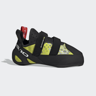 Five Ten Quantum Hook and Loop Climbing Shoes Semi Solar Yellow / Core Black / Red BC0830
