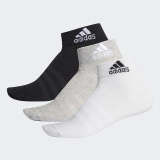 Ankle Socks 6 Pairs Medium Grey Heather / Medium Grey Heather / White / White DZ9397