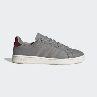 Grand Court Shoes Dove Grey / Dove Grey / Collegiate Burgundy EG7891