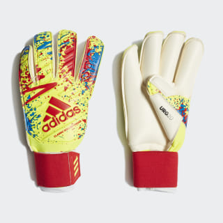 Classic Pro Gun Cut Goalkeeper Gloves Solar Yellow / Active Red / Football Blue DT8744