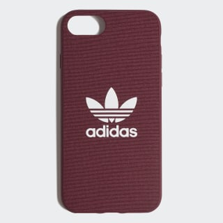 Fabric Snap Case iPhone 8 Maroon / White CK6148