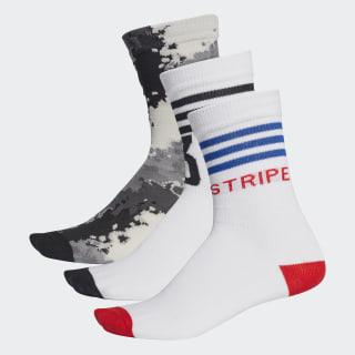 Athletics Socks 3 Pairs Raw White / White / Black DW4713