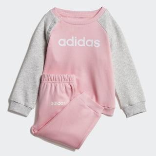 Флисовый комплект: джемпер и брюки Linear light pink / light grey heather / white DV1286
