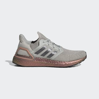 Ultraboost 20 Shoes Metal Grey / Grey / Signal Coral FV4389