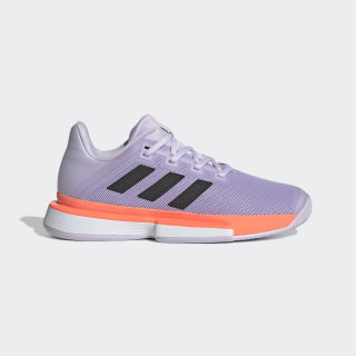 Кроссовки для тенниса SoleMatch Bounce Hard Purple Tint / Core Black / Signal Coral EG2218