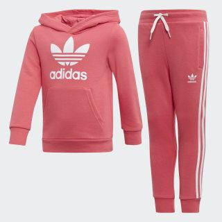 Souprava Trefoil Hoodie Real Pink / White FR3832
