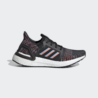 Кроссовки для бега Ultraboost 19 core black / glow blue / hi-res coral EF0930