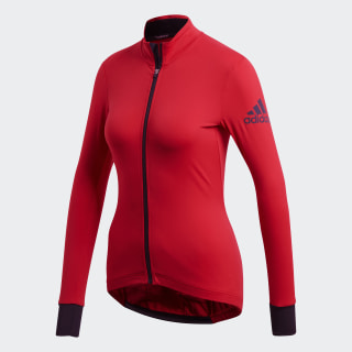 Maillot d'hiver climaheat cycling Scarlet BR9935