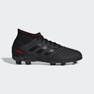 Футбольные бутсы Predator 19.3 FG core black / core black / active red D98003