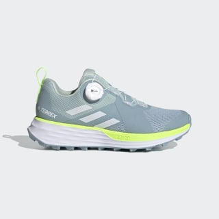 Terrex Two Boa Trail Running Schoenen Ash Grey / Cloud White / Signal Green EF2194