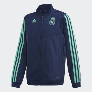 Real Madrid Ultimate Presentation Track Top Youth Night Indigo / Hi-Res Green DX7834