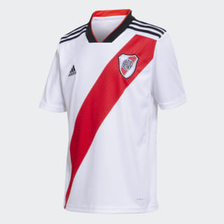 Camiseta Titular de Local Club Atlético River Plate Niño WHITE/RED/BLACK CF8964