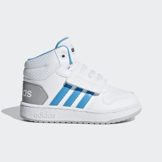 Hoops 2.0 Mid Shoes Ftwr White / Shock Cyan / Core Black F35836
