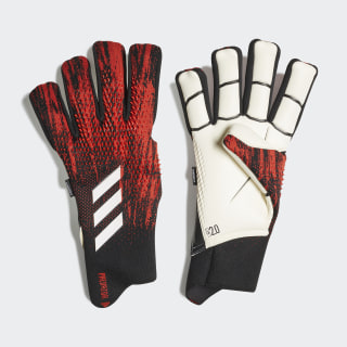 Predator 20 Pro Fingersave Torwarthandschuhe Black / Active Red FH7292