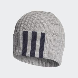 3-Stripes Beanie Medium Grey Heather / Legend Ink / White DZ4563