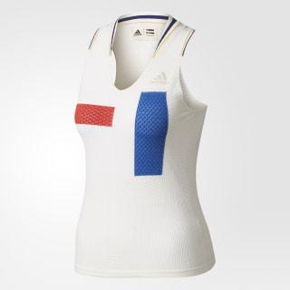 Pharrell Williams NY Colourblock Tank Top Ltd Chalk White/Clear Brown/Scarlet BR8969
